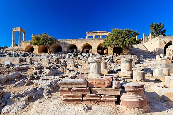 Ακρόπολη της Λίνδου, Αρχαιολογικοί Χώροι, wondergreece.gr