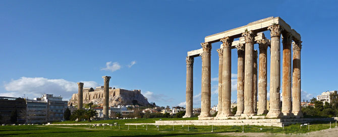 The Temple of Olympian Zeus and the Arch of Hadrian, Archaelogical sites, wondergreece.gr