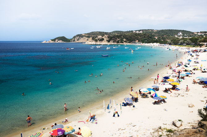 Golden Beach Ammouliani Beaches Nature Halkidiki Prefecture