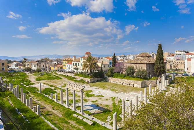 Roman Agora and the Clock tower of Kyristos , Archaelogical sites, wondergreece.gr