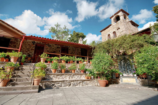 Taxiarchis Monastery of Mandamados, Churches & Monasteries, wondergreece.gr