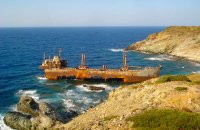 Shipwreck Semiramis, Andros, wondergreece.gr