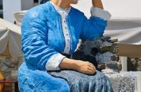 Monument to the woman from Olympos, Karpathos, wondergreece.gr